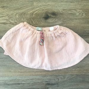ZARA BABY GIRL Pink Skirt with Pompom Tie
